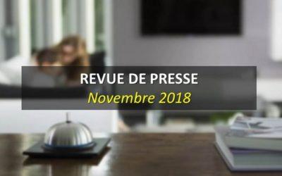 Revue de Presse Novembre 2018