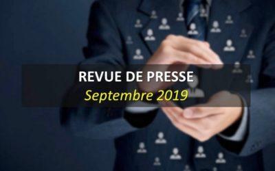 Revue de Presse Septembre 2019