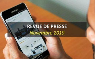 Revue de Presse Novembre 2019