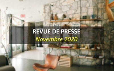 Revue de Presse Novembre 2020