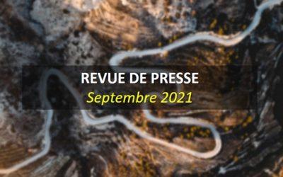 Revue de Presse Septembre 2021